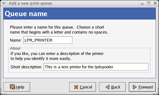 Enter a name for this printer